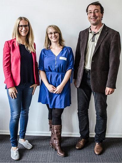 Ann-Kathrin Wingenbach , Dina Weiler, Dieter Bickenbach v.k.n.r.